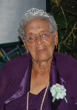 Mrs Leah Allen became Guyana's newest centenarian yesterday