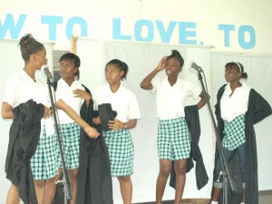 Some of the young artistes at their rehearsals.