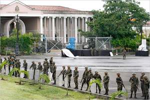 The day after the coup at the Honduran Presidential residence