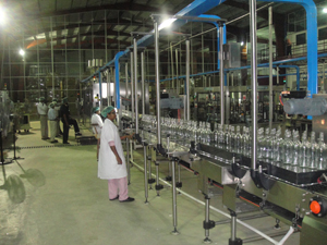 Inside the US$9M bottling plant yesterday