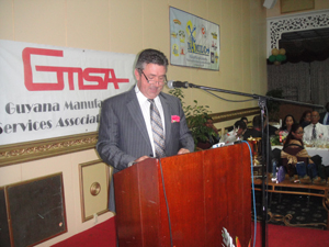 Canadian High Commissioner François Montour addressing the gathering at the GMSA annual presentation awards dinner.